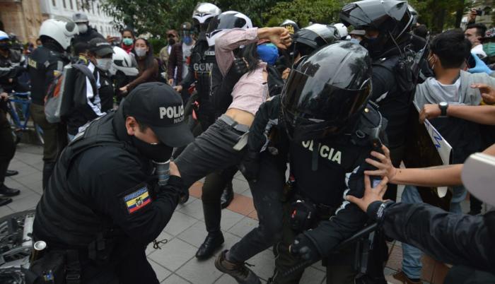 Manifestaciones contra las medidas económicas en Cuenca.
