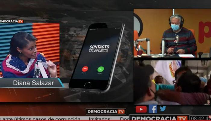 Diana Salazar entrevista cuestiona jueces Carlos Luis Morales