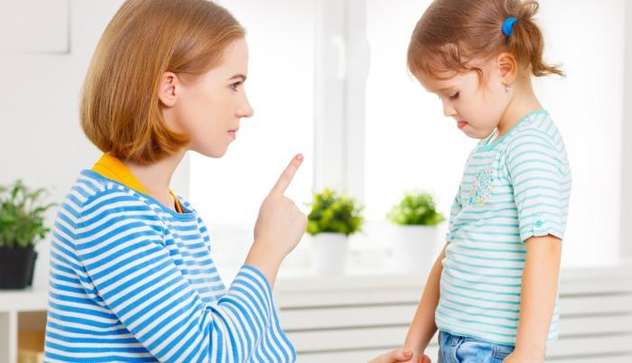 Madre corrigiendo a su hija