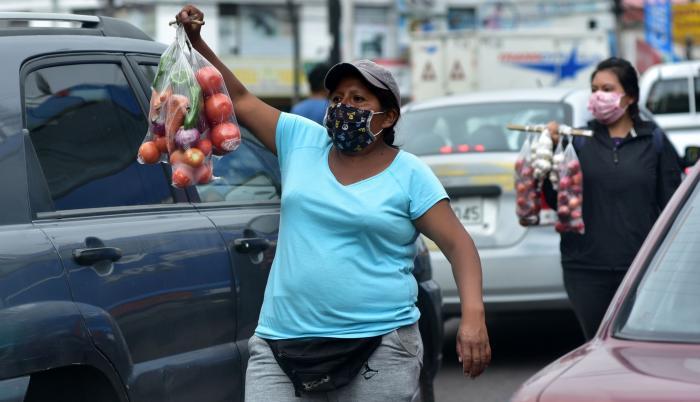 venta informales en las calles de Quito