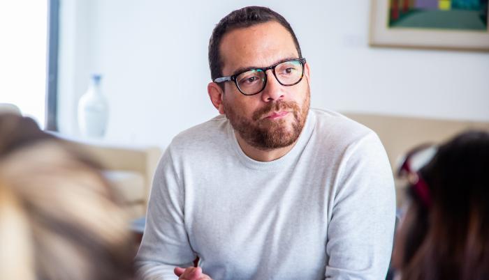 Juan Fernando Velasco Ministro de Cultura y Patrimonio