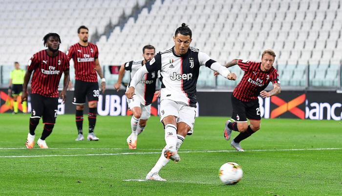 Juventus+Milan+Cristinano+Ronaldo+Penal