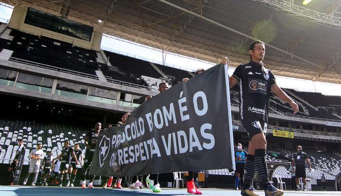 Botafogo+Futbol+Brasil+Protesta