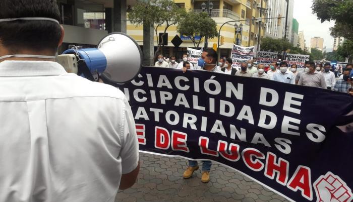 protesta de los alcaldes