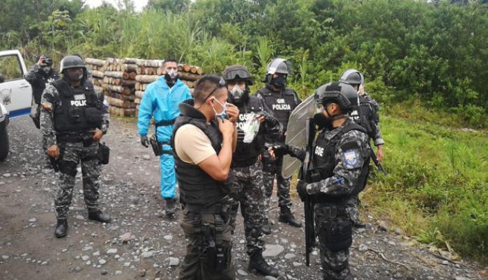 Ciudadanos, entre esos dos policías, fueron secuestrados el jueves en Kumay, Pastaza.