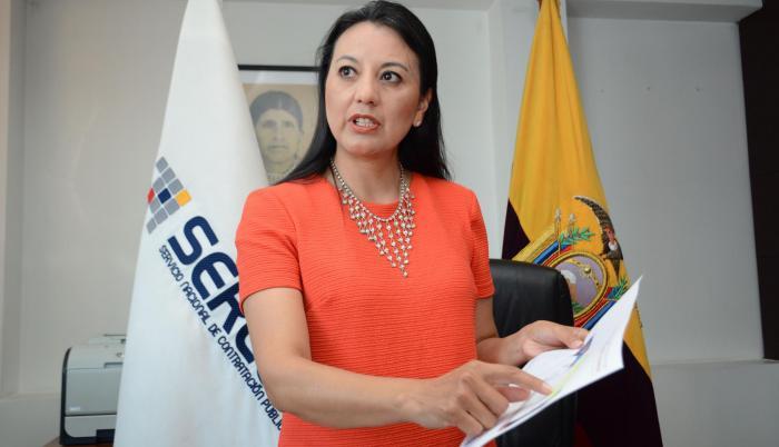 Silvana Vallejo, directora general del Servicio Nacional de Contratación Pública (Sercop).
