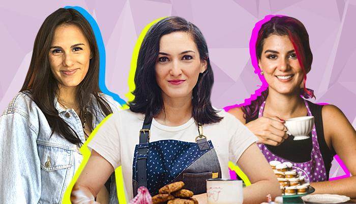 Andrea Salgado (Sailor Coffee); María José Noboa (Biscotti Galletas); Ana Belén Guevara (Las Recetas de Anita Belén).