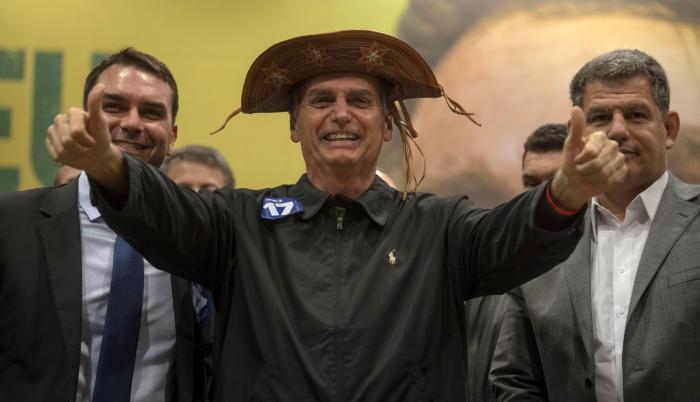 El ultraderechista Jair Bolsonaro, favorito para ganar la presidencia de Brasil.