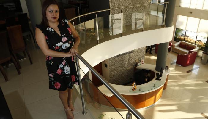 Mónica Calle, dueña del hotel Plaza Montecarlo.