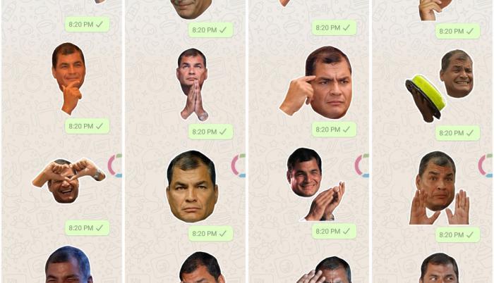 Stickers de WhatsApp con tinte político