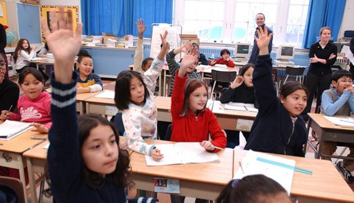 Innovación. Escolares participando en una clase que aplica el método Jump Math.