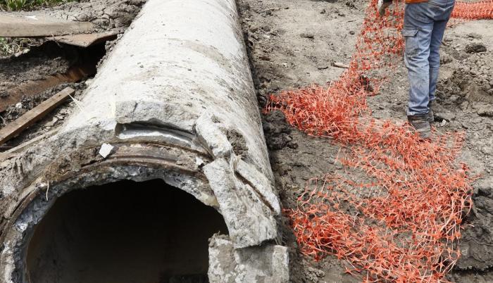 Área. Zona de intervención, investigación y reparación del acueducto, ubicado en el km 30 de vía a la costa.