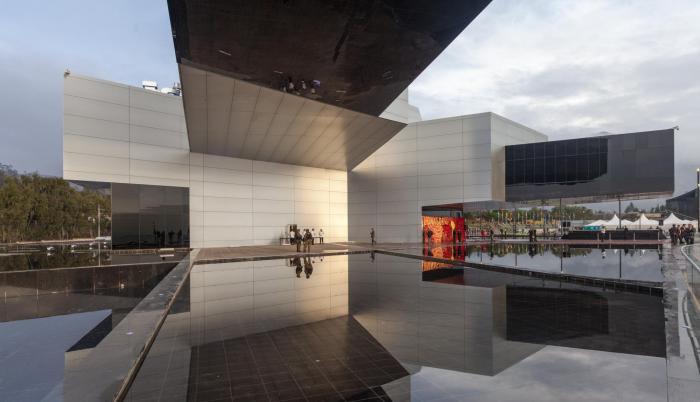 El edificio de Unasur, ubicado en la Mitad del Mundo, representó una inversión de 40 millones de dólares.