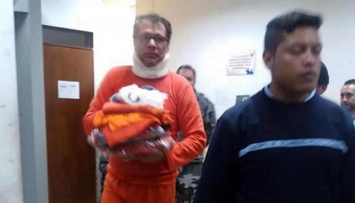 Traslado de Jorge Glas a la cárcel de Latacunga.
