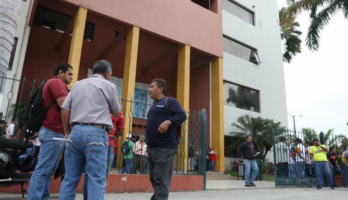 Referencial. Este es el edificio administrativo de la Universidad Estatal de Guayaquil donde se han dado algunos incidentes.