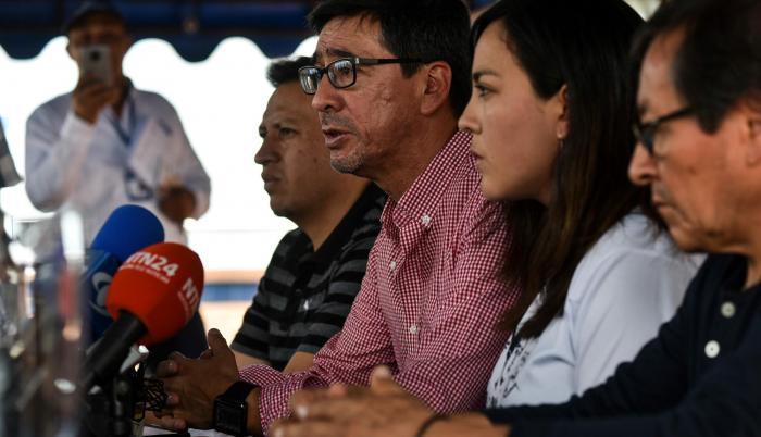 Familiares de periodistas asesinados en la frontera con Colombia. Fotografía del pasado 24 de junio de 2018.