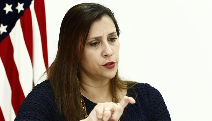 La directora ejecutiva de la Cámara de Comercio Ecuatoriano Americana de Guayaquil (Amcham) indicó a EXPRESO el trabajo que viene haciendo el gremio que tiene 360 socios, de los cuales un 60 % son pymes de servicio, un 60 % participan en comercio exterior