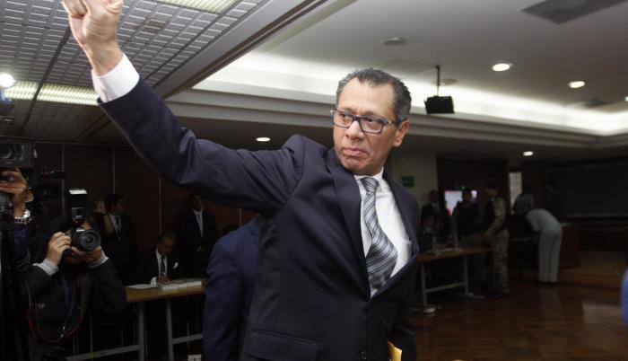 Simpatizantes del exvicepresidente Jorge Glas pedían la nulidad del proceso penal y la restitución de su cargo en la Vicepresidencia.