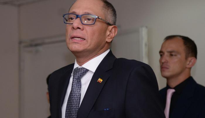 Fotografía del 6 de diciembre de 2017. Jorge Glas en el juicio por el caso Odebrecht.