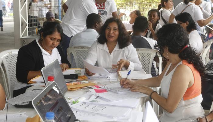 Inscripción de candidaturas por la provincia del Guayas.