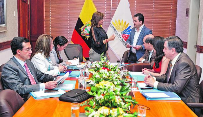 Sesión. La Asamblea Nacional, en la reunión del martes, no logró votar por la investigación a Sofía Espín.