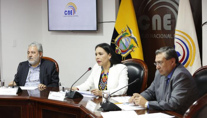Rueda de prensa del Consejo Nacional Electoral.