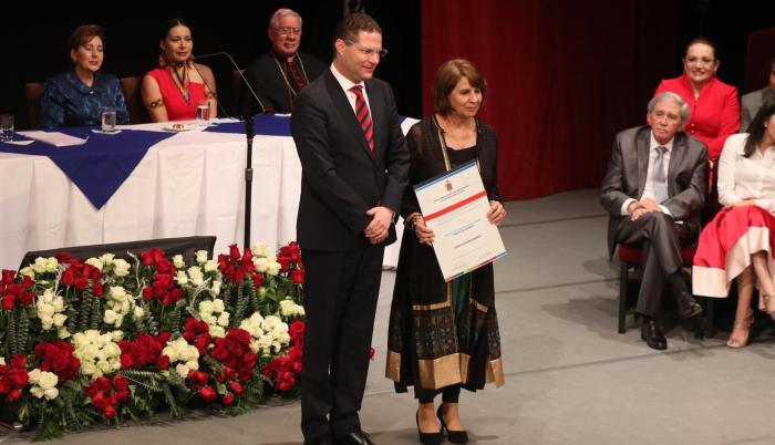 Solemnidad. El alcalde de Quito, Mauricio Rodas, fue el anfitrión de la sesión solemne que arrancó después de las 17:00, en el Teatro Sucre del Centro Histórico de la capital.