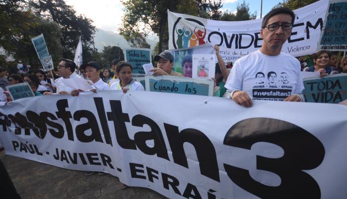 Marcha de desaparecidos y muertes violentas. Quito, 21 de Julio de 2018.