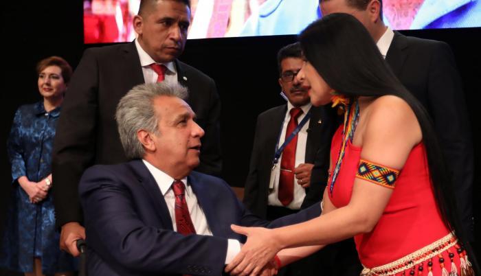Agenda. Uno de los últimos actos del presidente en el país fue la sesión solemne por la Fundación de Quito.