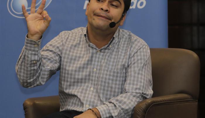 Personaje. Jeison Aristizábal, Héroe CNN, estuvo en Guayaquil y Quito dando una charla de motivación.