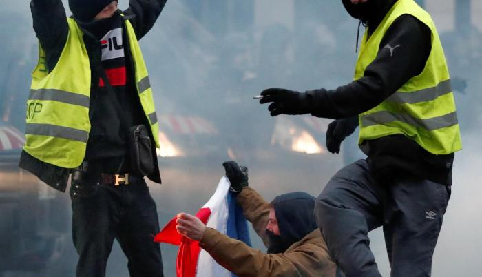 Movilización. Las protestas de ayer fueron de menor intensidad.
