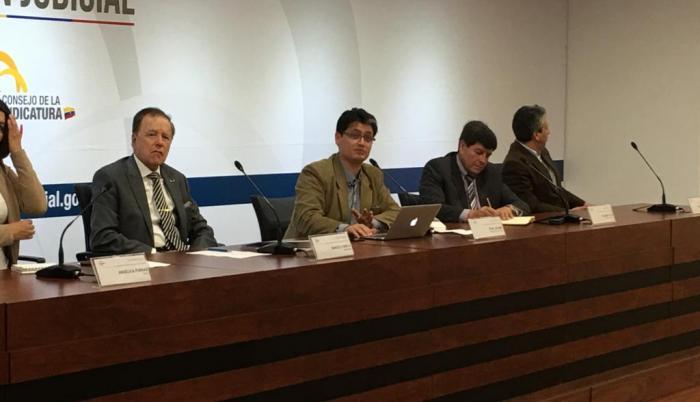 El Complejo Judicial Norte se presentaron los avances del informe de la Mesa de Verdad y Justicia, este lunes.