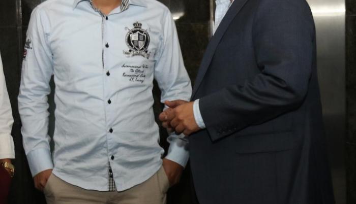 Jaime Estrada, presidente del Manta FC y Francisco Egas, directivo de Universidad Católica.