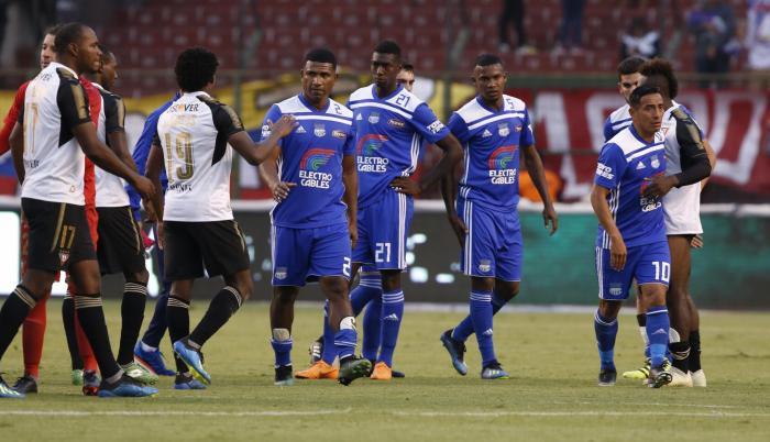 Encuentro entre Emelec y Liga de Quito el pasado 29 de julio de 2018.