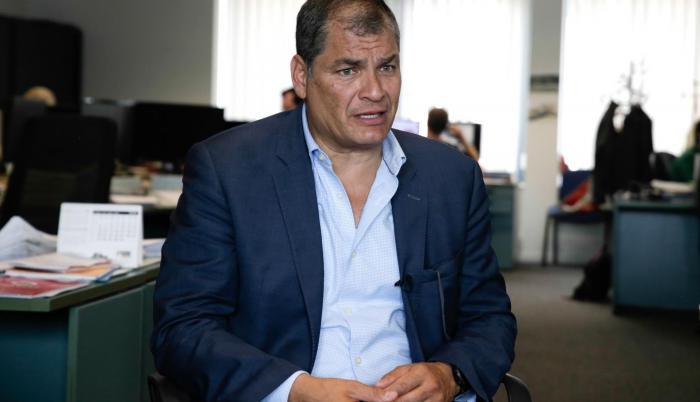 Correa reside en Bélgica desde julio de 2017.