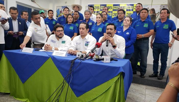 Rommel Salazar, director provincial de la organización, precisó que dentro de 10 días a dos semanas esperan la confirmación de José Francisco Cevallos para la candidatura a la Prefectura del Guayas.