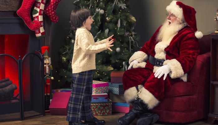 La emoción por este personaje navideño se la siente en los niños más pequeños.