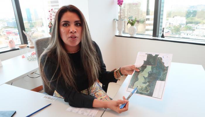 Eveline Montalvan, secretaria de Asentamientos.
