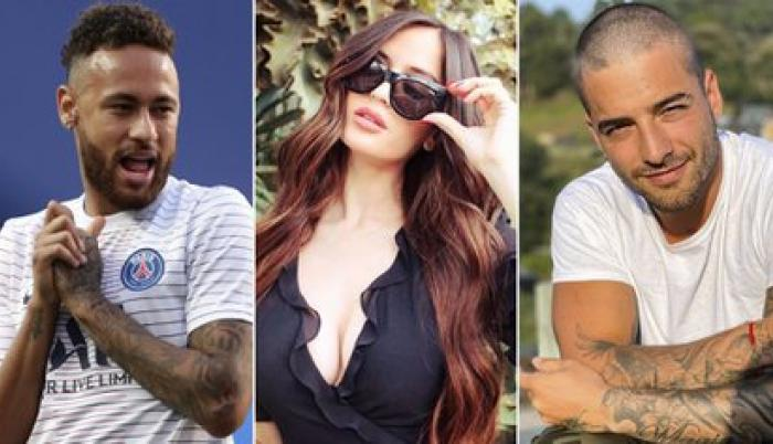 Neymar, Natalia y Maluma.