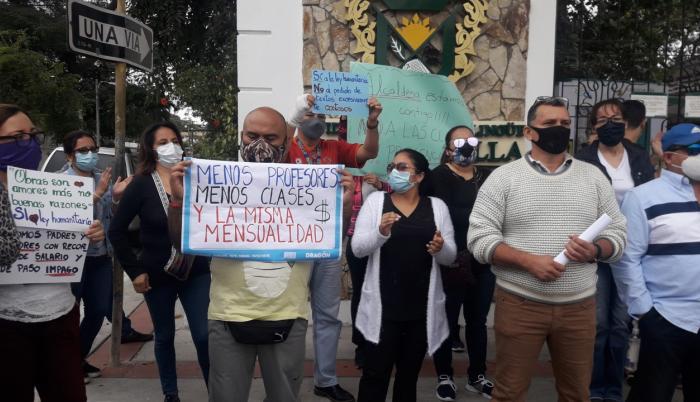 Protesta de padre
