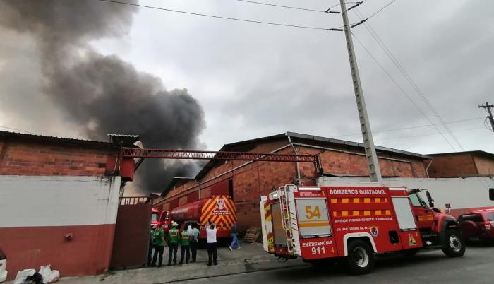 Incendio vía a Daule