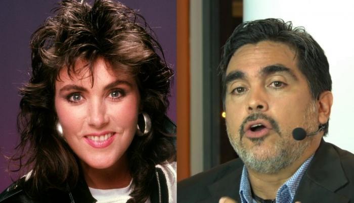 Laura Branigan y Diego Arcos