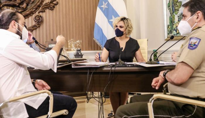 La alcaldesa Cynthia Viteri, en su enlace del pasado 16 de septiembre.