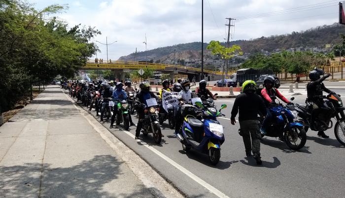 La caravana de motociclistas llegó al Municipio de Guayaquil el pasado jueves 17 de septiembre