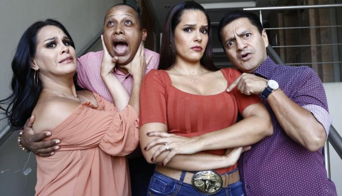 Pamela Palacios, Ricardo González, Cecilia Cascante y Martín Calle.