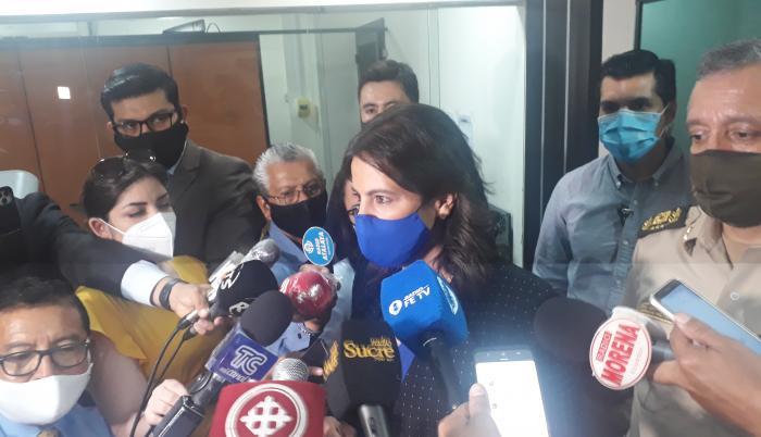 ministra romo+expreso+rueda de prensa+caso isspol