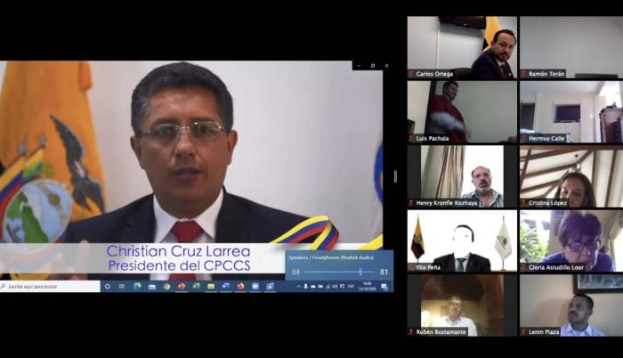 Juicio político a Christian Cruz, presidente de CPCCS, 13 oct. 20