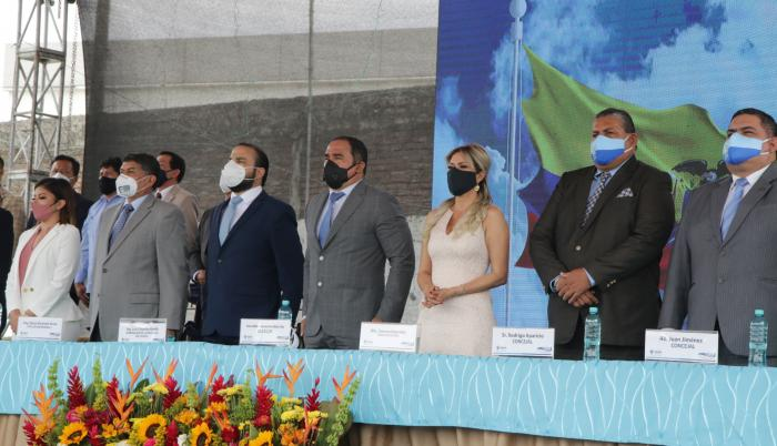 El alcalde Dalton Narváez presidió la sesión solemne e invitó a autoridades de la provincia.