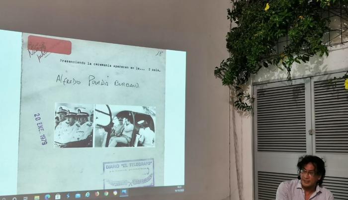 Amaury Martínez, durante la presentación de su participación en el proyecto.