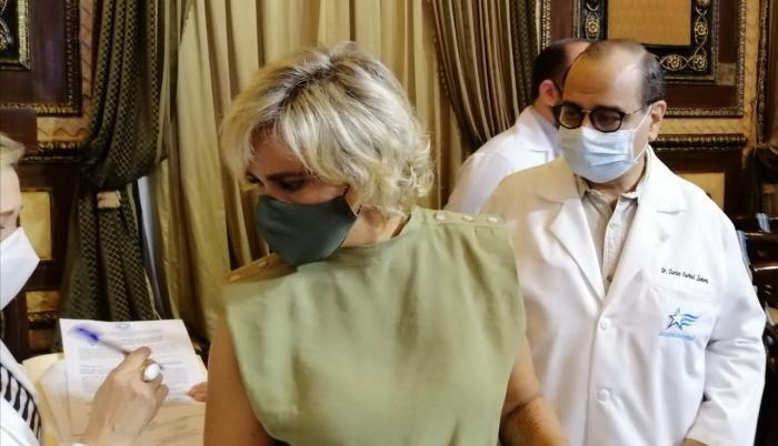 La alcalddsa, Cynthia Viteri, en el informe sobre las cifras del coronavirus en Guayaquil
